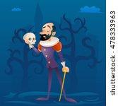 Man Medieval Suit Tragic Actor...