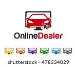 online dealer logo | Shutterstock .eps vector #478334029