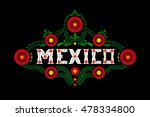 mexico country decorative... | Shutterstock .eps vector #478334800