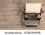 vintage typewriter on the old... | Shutterstock . vector #478334998