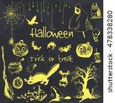 hand drawn doodle halloween... | Shutterstock .eps vector #478338280