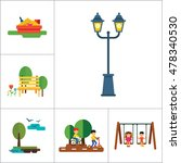 park icon set | Shutterstock .eps vector #478340530