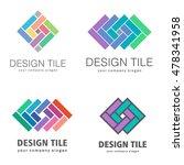 set of logos of ceramic tiles....   Shutterstock .eps vector #478341958