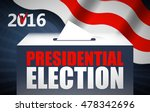 usa presidential election day... | Shutterstock .eps vector #478342696