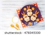 children's breakfast with... | Shutterstock . vector #478345330