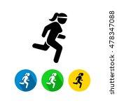 running woman icon    Shutterstock .eps vector #478347088