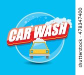 vector car wash logo template.... | Shutterstock .eps vector #478347400