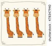 vector set cute giraffe.... | Shutterstock .eps vector #478347940