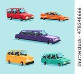 set of vintage american... | Shutterstock .eps vector #478348666