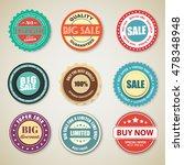 a set of stickers  tags  stamps ... | Shutterstock .eps vector #478348948