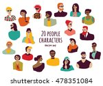 young fashion people icons...   Shutterstock .eps vector #478351084