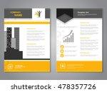 vector modern brochure ... | Shutterstock .eps vector #478357726