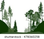 illustration with fir trees... | Shutterstock .eps vector #478360258