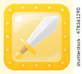 old fashioned sword game icon...