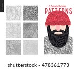 handdrawn patterns set. fur... | Shutterstock .eps vector #478361773