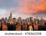 manhattan skyline new york city ... | Shutterstock . vector #478362358