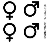 male and female gender symbol... | Shutterstock .eps vector #478363618