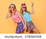 fashion hipster woman having... | Shutterstock . vector #478364338