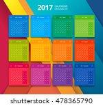 vector 2017 calendar design