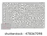large vector horizontal maze... | Shutterstock .eps vector #478367098