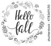 """hello  fall"". autumn template... | Shutterstock .eps vector #478369150"
