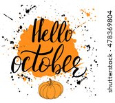 hello  october. template with... | Shutterstock .eps vector #478369804