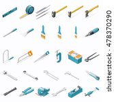 building hand tools isometric... | Shutterstock .eps vector #478370290