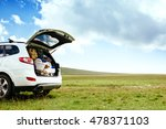 car with full trunk of... | Shutterstock . vector #478371103
