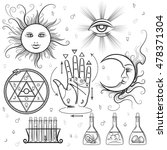 esoteric signs. vector symbols... | Shutterstock .eps vector #478371304