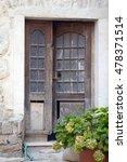 old wooden door | Shutterstock . vector #478371514
