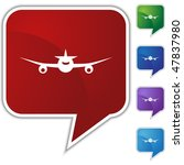airplane icon isolated on a... | Shutterstock .eps vector #47837980