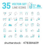 set vector graphic thin outline ... | Shutterstock .eps vector #478384609