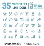 Set Vector Graphic Thin Outlin...