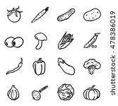 vector set of black doodle... | Shutterstock .eps vector #478386019