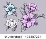 cartoon genie. sketch vector... | Shutterstock .eps vector #478387234