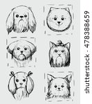 dogs portraits sketches. vector ... | Shutterstock .eps vector #478388659
