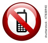 vector no phone mark | Shutterstock .eps vector #47838940