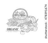 organic farm products still... | Shutterstock .eps vector #478391674