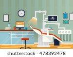 dental room or cabinet for...   Shutterstock .eps vector #478392478