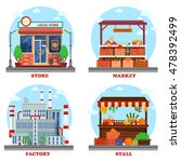 local store or shop  market and ...   Shutterstock .eps vector #478392499