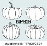 vector single sketch pumpkin.... | Shutterstock .eps vector #478392829