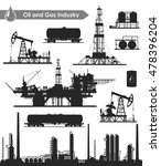 set of oil and gas industry... | Shutterstock .eps vector #478396204