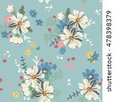 seamless pattern with daisies... | Shutterstock .eps vector #478398379