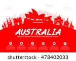 australia travel landmarks....   Shutterstock .eps vector #478402033