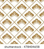 japanese pattern gold vector | Shutterstock .eps vector #478404658