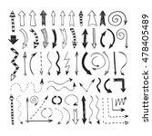 set hand drawn arrows. doodle... | Shutterstock .eps vector #478405489