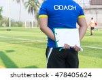 coach is coaching children... | Shutterstock . vector #478405624