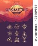 different geometric vector... | Shutterstock .eps vector #478409989