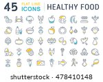 set vector line icons in flat... | Shutterstock .eps vector #478410148