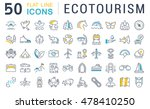 set vector line icons in flat... | Shutterstock .eps vector #478410250